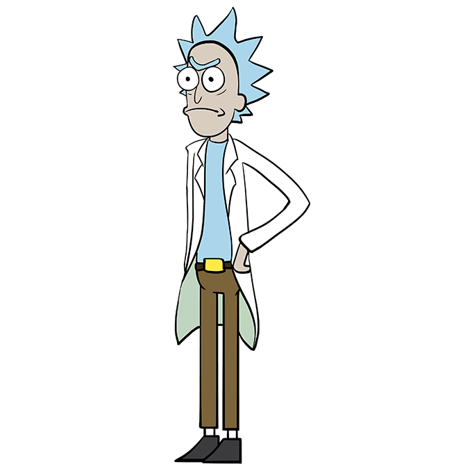How to Draw Rick from Rick and Morty: Step 10