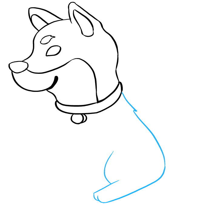 How to Draw Shiba Inu: Step 4