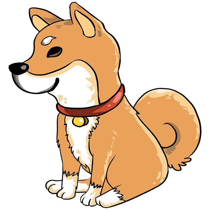 How to Draw a Shiba Inu Step 10