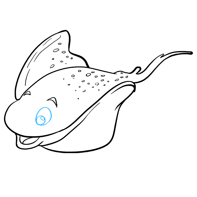 How to Draw Stingray: Step 8