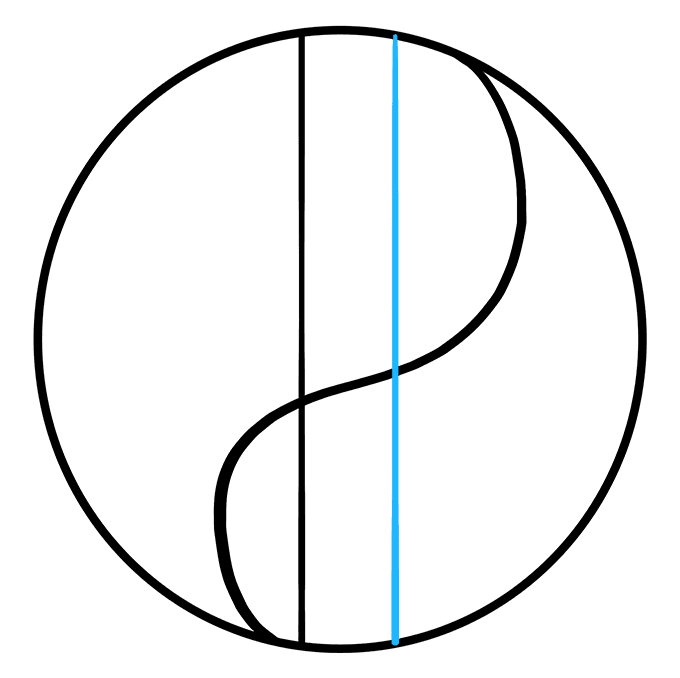 How to Draw Yin Yang Symbol: Step 4