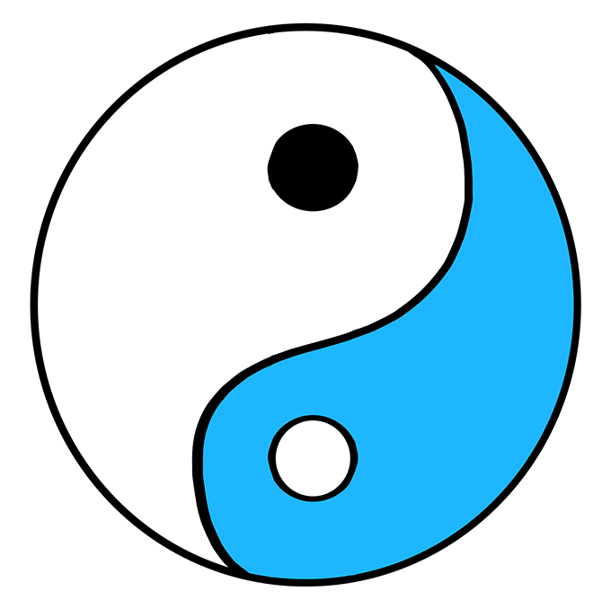 How to Draw Yin Yang Symbol: Step 9