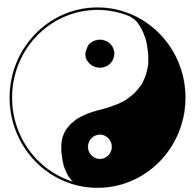 How to Draw Yin Yang Symbol: Step 10