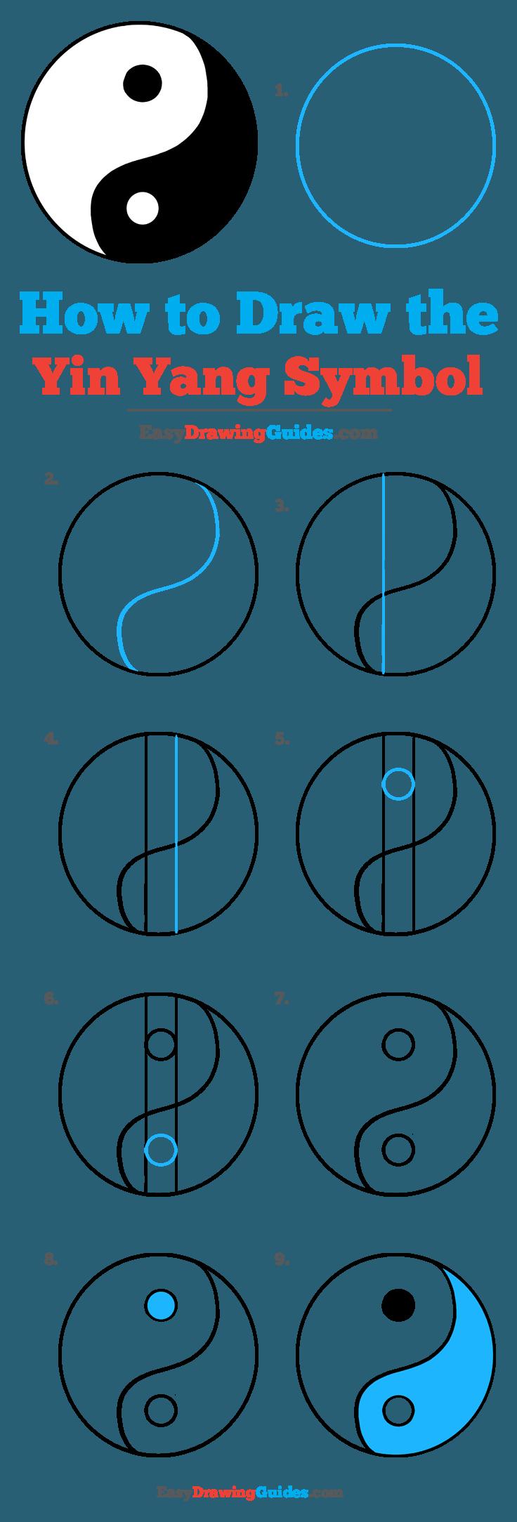 How to Draw Yin Yang Symbol