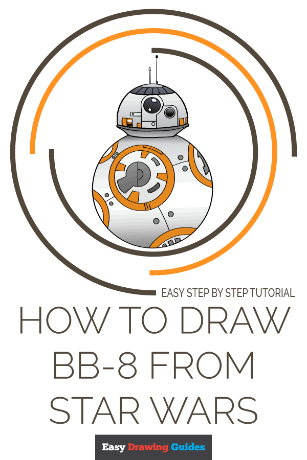 How to Draw BB-8 from Star Wars | Share to Pinterest