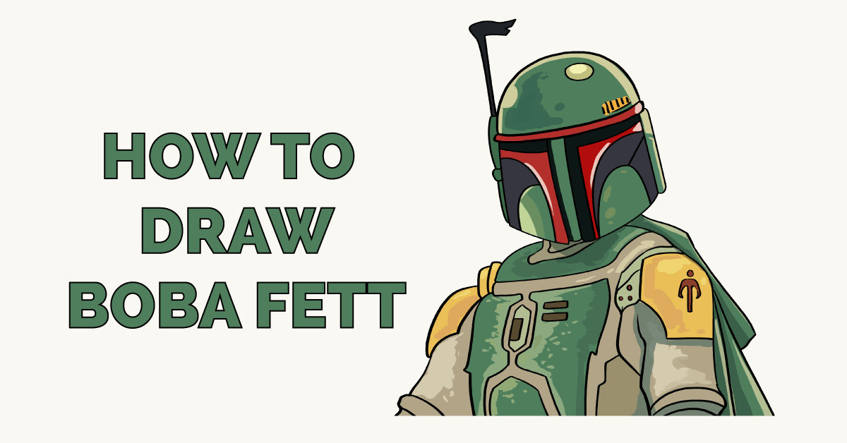 How to Draw Boba Fett - Really Easy Drawing TutorialBoba Fett Drawing Tutorial