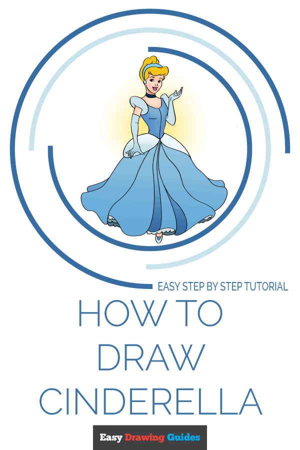 How to Draw Cinderella | Share to Pinterest