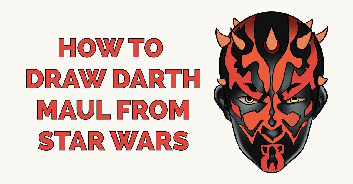How to Draw Darth Maul from Star Wars Featured Image