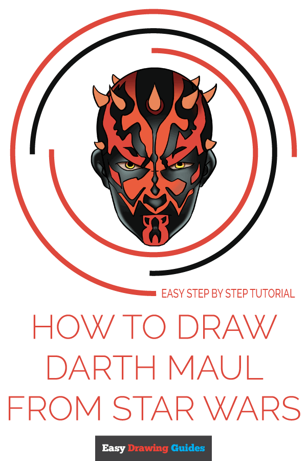 How to Draw Darth Maul from Star Wars | Share to Pinterest