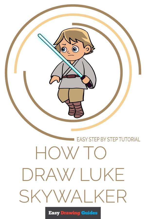 How to Draw Luke Skywalker | Share to Pinterest