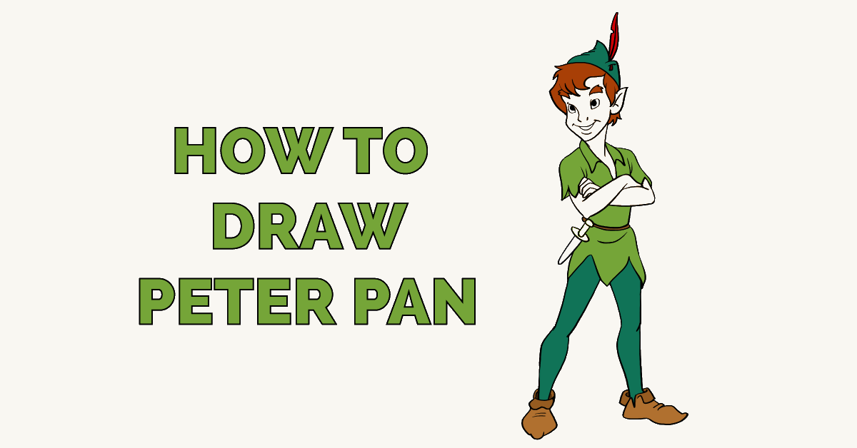 graphic regarding Peter Pan Hat Pattern Printable referred to as How towards Attract Peter Pan - Truly Very simple Drawing Guide
