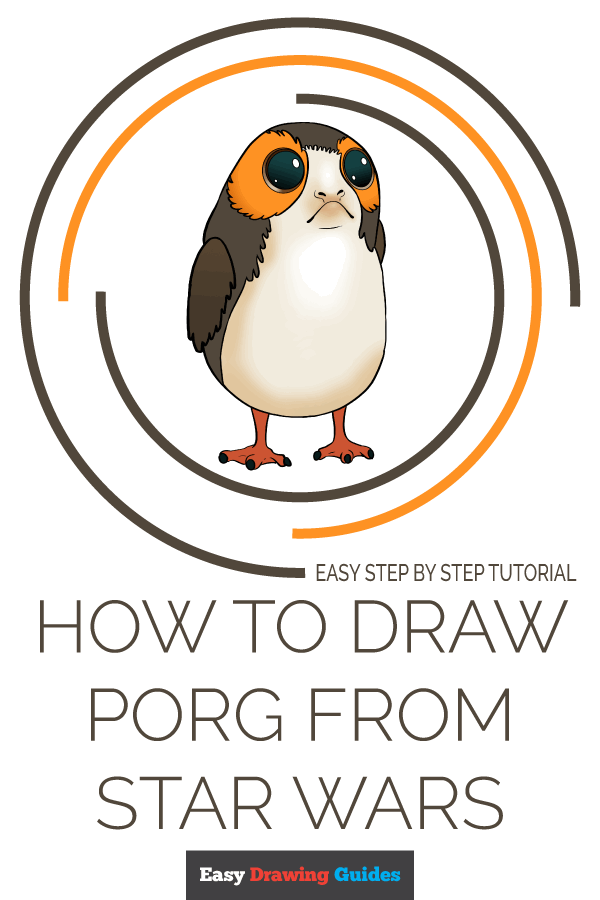 How to Draw Porg from Star Wars | Share to Pinterest