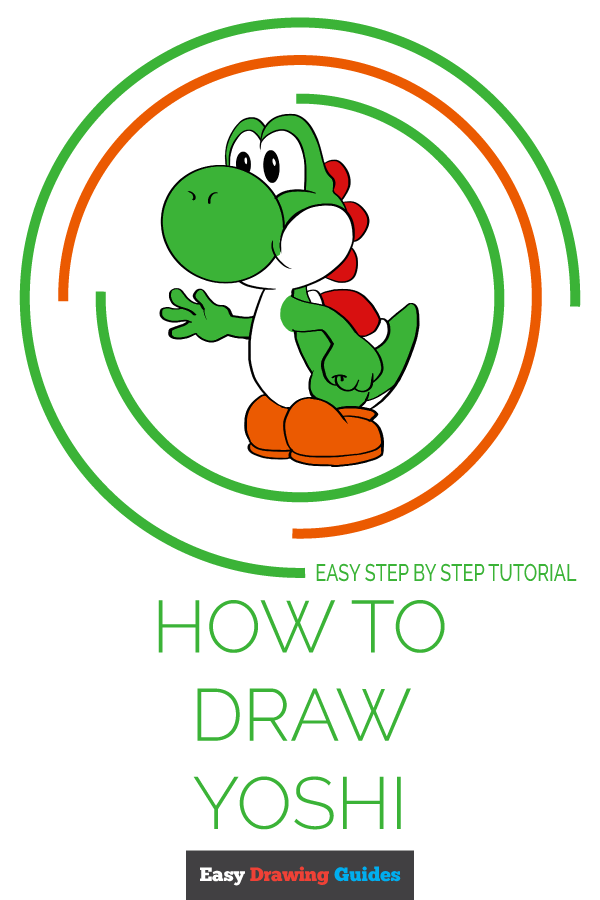 How to Draw Yoshi | Share to Pinterest