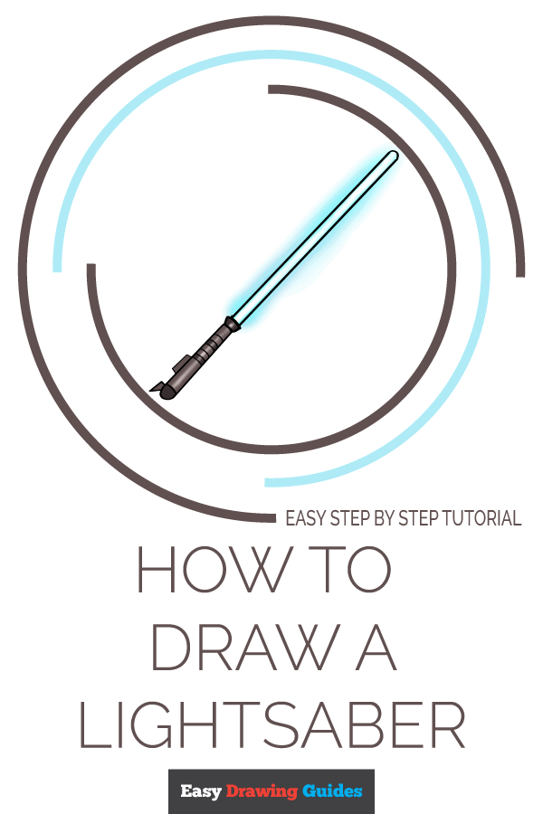 How to Draw Lightsaber | Share to Pinterest