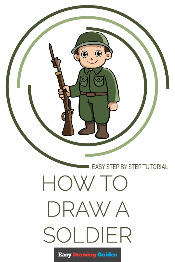 How to Draw a Soldier Pinterest Image
