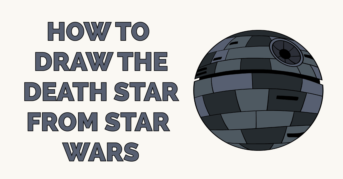 How to Draw the Death Star from Star Wars Featured Image