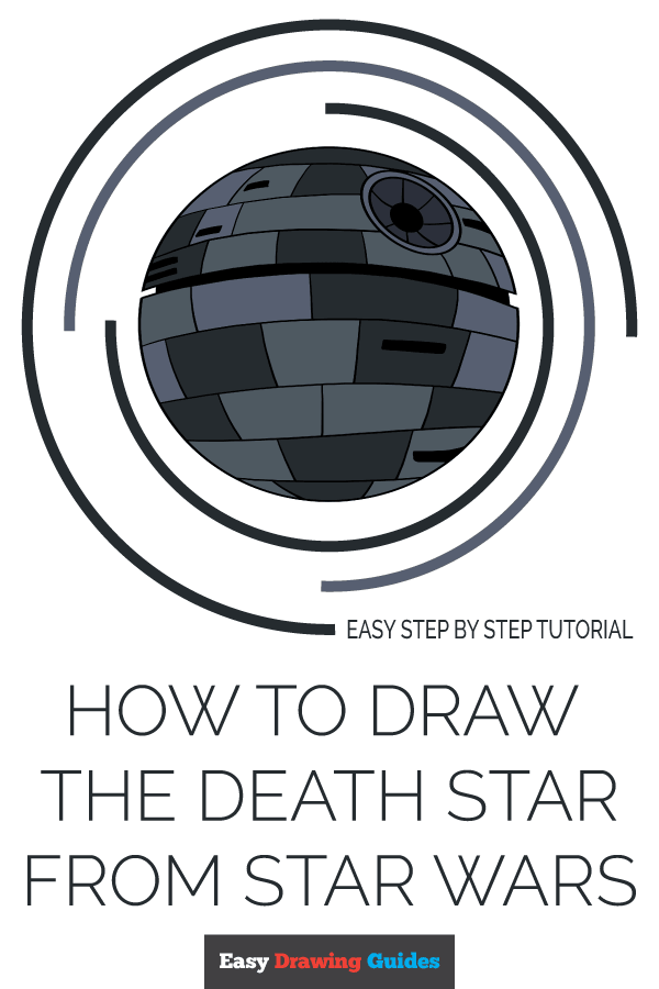 How to Draw Death Star from Star Wars | Share to Pinterest