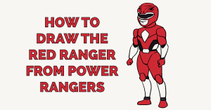 How to Draw the Red Ranger from Power Rangers Featured Image