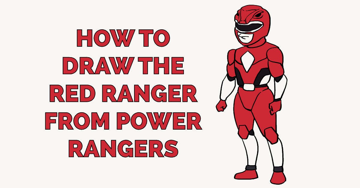 How To Draw The Red Ranger From Power Rangers Really Easy Drawing Tutorial