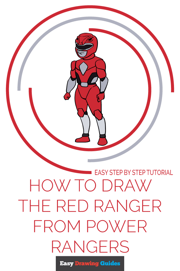 How to Draw The Red Ranger from Power Rangers | Share to Pinterest