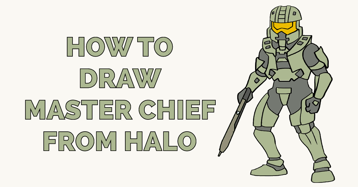 How To Draw Master Chief From Halo Really Easy Drawing