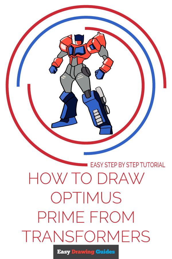 How to Draw Optimus Prime from Transformers Pinterest Image