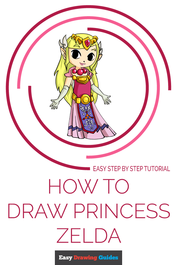 How to Draw Princess Zelda | Share to Pinterest