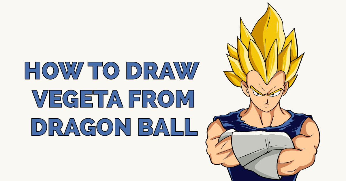 How to Draw Vegeta from Dragon Ball Featured Image
