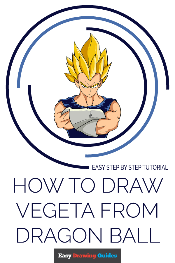 How to Draw Vegeta from Dragon Ball | Share to Pinterest