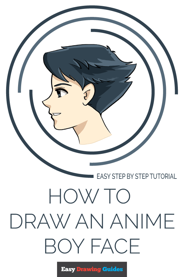 How to Draw Anime Boy Face | Share to Pinterest