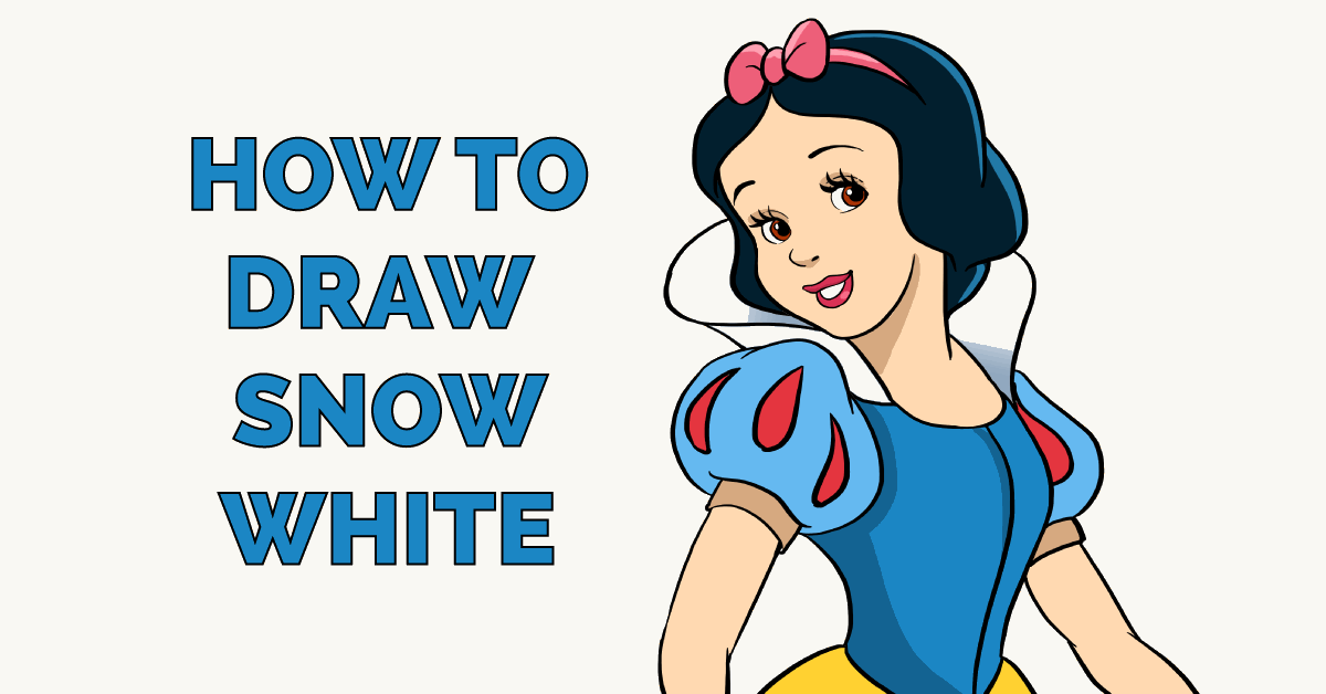 How To Draw Snow White Really Easy Drawing Tutorial