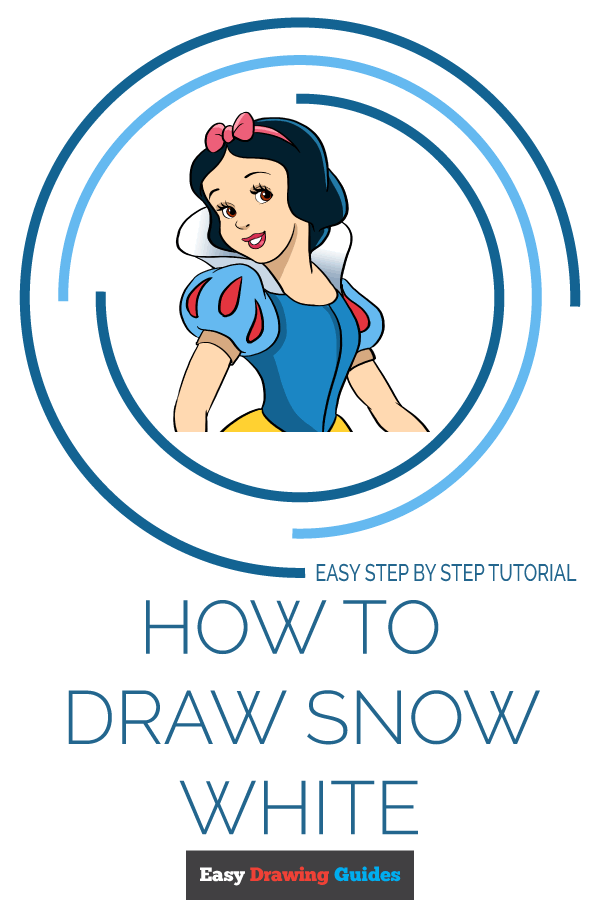 How to Draw Snow White | Share to Pinterest