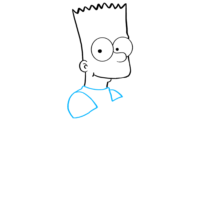 How to Draw Bart Simpson: Step 5