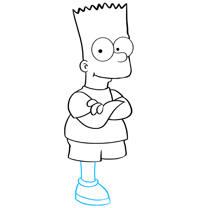 How to Draw Bart Simpson: Step 8