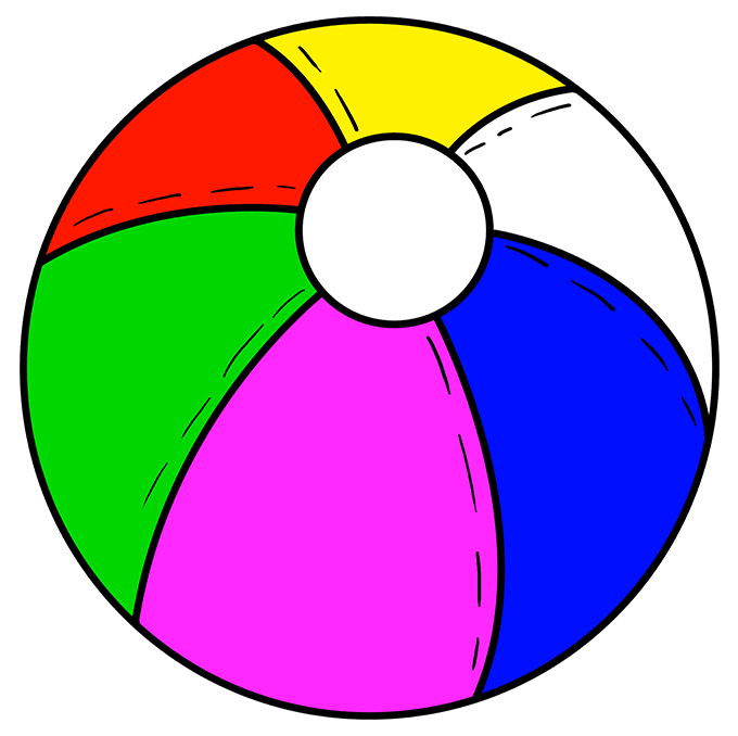 How to Draw a Beach Ball - Really Easy Drawing Tutorial