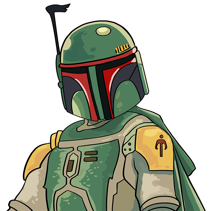 How to Draw Boba Fett: Step 10