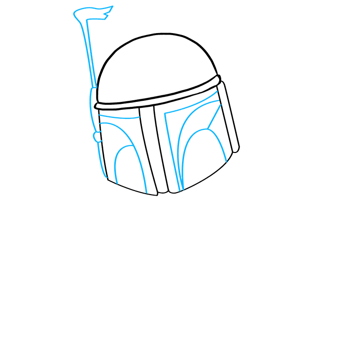 How to Draw Boba Fett: Step 3