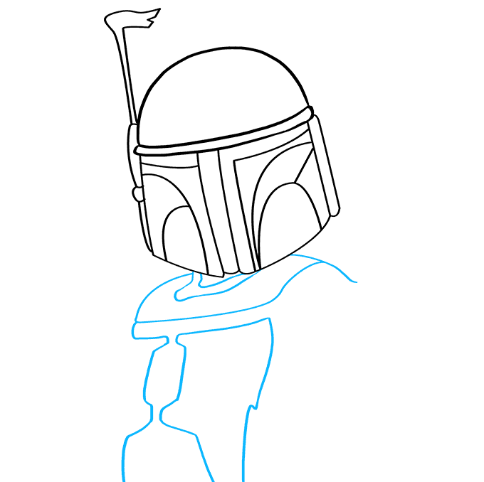 How to Draw Boba Fett: Step 4