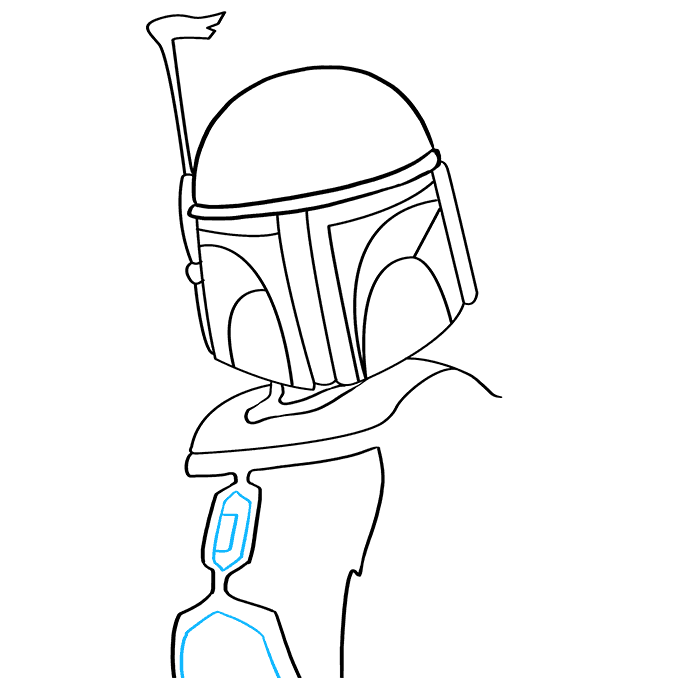 How to Draw Boba Fett: Step 5