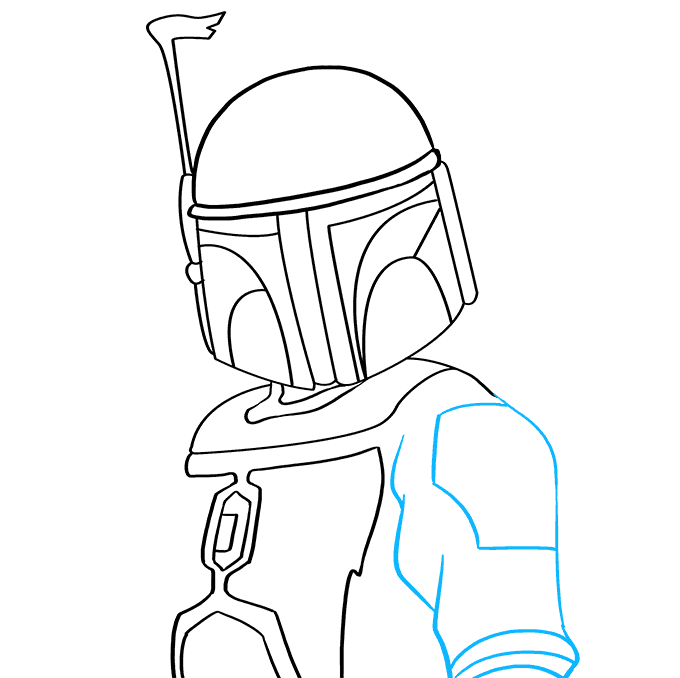 How to Draw Boba Fett: Step 6