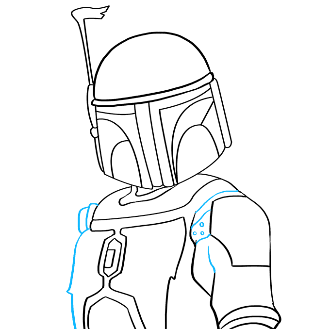 How to Draw Boba Fett: Step 7
