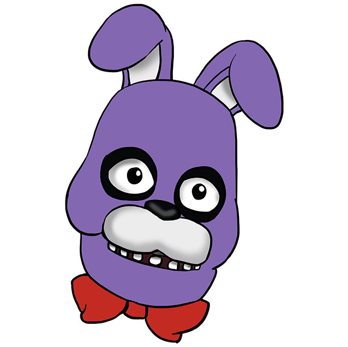 How to Draw Bonnie from Five Nights at Freddys Step 10