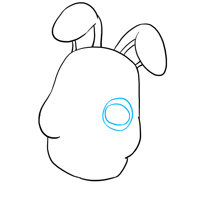 How to Draw Bonnie from Five Nights at Freddys Step 05