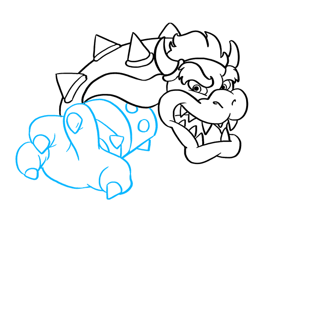 How to Draw Bowser from Super Mario Bros: Step 4