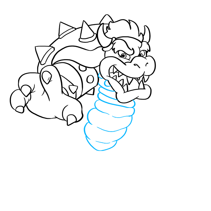 How to Draw Bowser from Super Mario Bros: Step 5