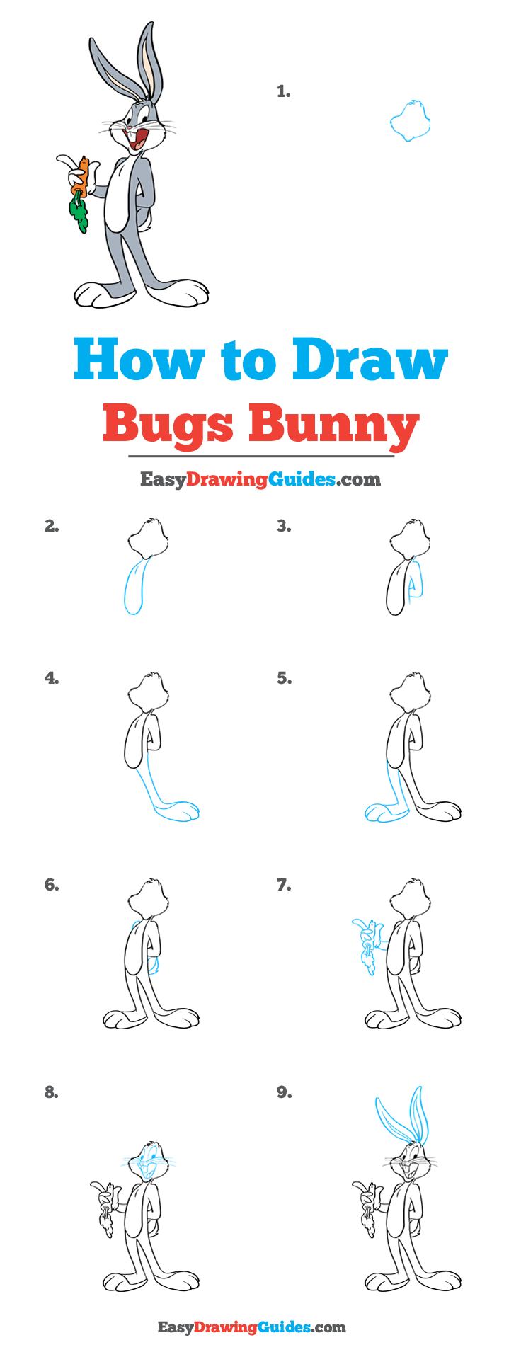 How to Draw Bugs Bunny