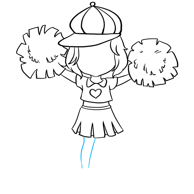 How to Draw Cheerleader: Step 5
