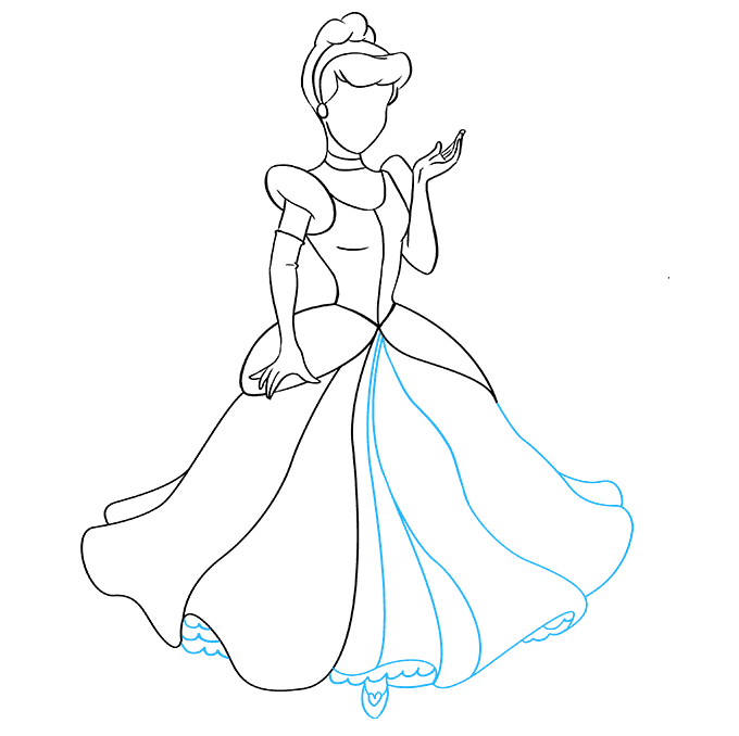 How to Draw Cinderella: Step 8