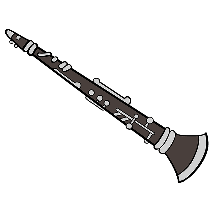 How to Draw Clarinet: Step 10
