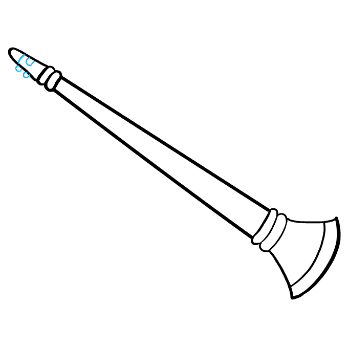 How to Draw Clarinet: Step 6